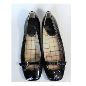 COACH Black Patent Ellyce Ballet Flats